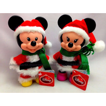 Combo Bonecos Disney Natal Multibrink: Mickey + Minnie Mouse