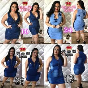 Vestido Jeans Plus Size Lycra