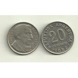 Moneda Argentina 20 Centavos De 1952 Gral San Martin Km# 48a