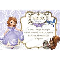 Kit Imprimible Princesa Sofía Lila Invitación Candybar