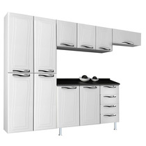 Cozinha Ipanema 10 Portas/4 Gavetas De Aço Branco- Colormaq