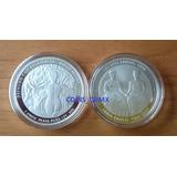 Medalla Frida Kahlo 1 Oz Plata .999 Nueva Cm