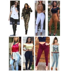 Calça Jeans Feminina Cintura Alta Hot Pant Rasgada No Joelho