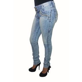 Calça Jeans Feminina Com Pedrarias