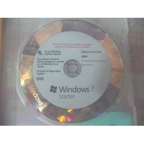 Cd Windows 7 Original Starter Con Licencia 32bits