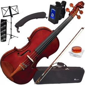 Kit Violino Eagle 4/4 +case+breu+arco+espaleira+afin+estante