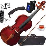 Kit Violino Eagle 4/4 +case+breu+arco+espaleir+afinad+estant