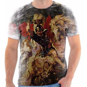 Camiseta Blusa Personalizada Santo São Jorge
