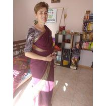 Saree Sari De India De Algodon Fino Con Guarda!