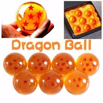 Siete Mini Esferas De Dragon Ball Con Caja Exhibidor 3.5 Cm