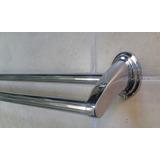 Barrote Toallero Doble En Metal - 2 Toallas - 64 Cm De Largo