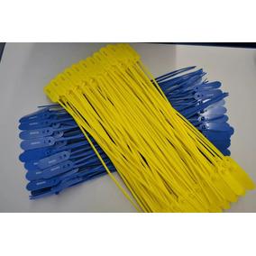 100 Lacres Plastico Numerados Anti Furto 30cm Cores *had