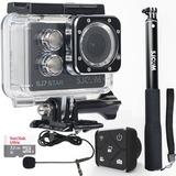 Câmera Sjcam Sj7 Star 4k Microfone+ 32gb+ Bastao+ Controle