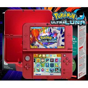 New 3ds Xl Negro Red + Juegos + 32gb + Pokemon Rojo