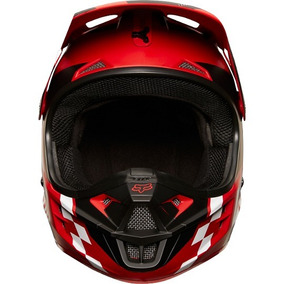 Casco Fox Racing V1 Sayak Rojo Motocross Atv Varias Tallas