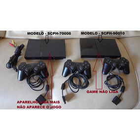 Lote De 2 Playstation 2 Slim Defeito - Ler Anúncio