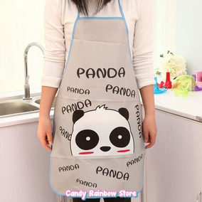 Delantal Mandil Panda - Moldes Kawaii Cocina Hello Kitty