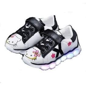 c85b12c92e2 Zapatos Tenis Hello Kitty Con Luz Led Para Niñas Bebés