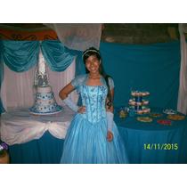 Hermoso Vestido Para 15 Años, Color Azul, Estilo Princesa.!