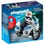 Playmobil 5185 Moto De Policia!!!