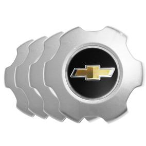 Jogo Calota Centro De Roda S10 Ltz 2014 Prata - Emblema Gm