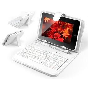 Capa Case Teclado P/ Tablet 7´ Powerpack Usb Em Português