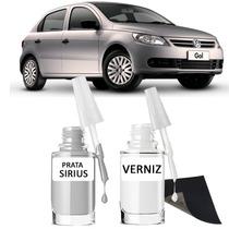 Tinta Tira Risco Automotivo Volkswagen Gol Cor Prata Sirius