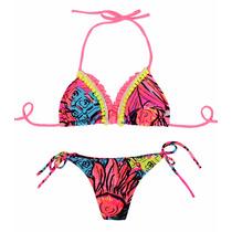 Bikini Triangulo Voladitos Con Taza Soft Y Colaless Tout