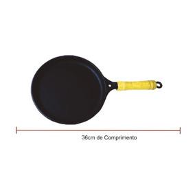 Frigideira Chapa Para Tapioca Tapioqueira Ferro Fundido 19cm