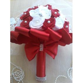Buque Casamento Noiva/bouquet Rosas Artificial Vermelho