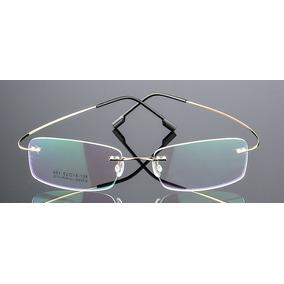 4a4766791 Armação Óculos De Grau Titânio Sem Aro Flexível Promoção A07