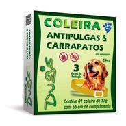 Coleira Cães Antipulgas Carrapatos Dugs 17g - 56cm