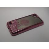 Funda Case Glitter Liquido Espejo Lg Q6 Prime Rosa