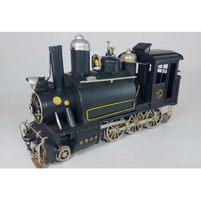 Locomotora Antigua Chapa Tren Miniatura Decorativa Escala