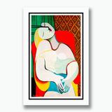 Quadro Pablo Picasso 60x40cm Sonho Le Reve Decoracao Sala Tv