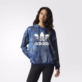 Blusa Capuz Oversize Blue Geology adidas Originals Dom