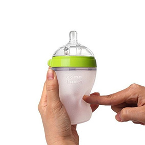 Mamadeira De Silicone Comotomo Baby Bottle 150ml - Verde