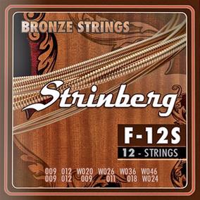 Encordoamento Strinberg Violão 12 Cordas F-12s Cordas Aço