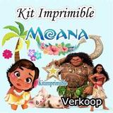 Kit Imprimible Moana Candy Bar Etiquetas Cajas Marcos