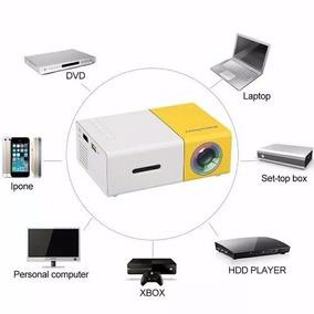Mini Projetor Portátil Led 600 Lumes Hd Yg-300 Hdmi Usb Xbox
