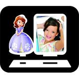 Kit 100 Porta Retrato Princesa Sofia Mdf Branco De Fabrica