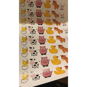 Kit De 500 Stickers animalitos De Granja