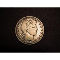 Usa 1/2 Dolar 1908 D Plata 900 Estados Unidos Half Medio