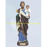 Estatua São José 60cm E São Mateus 30cm Imagem Santo Gesso