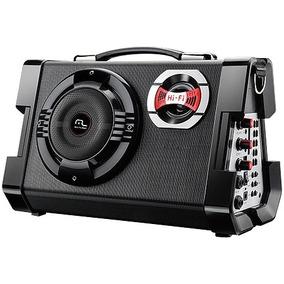 Caixa De Som Multiuso Com Microfone Mp3/ Usb/sd/fm/guitarra
