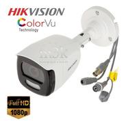 Color Noche! Camara Seguridad Hikvision 1080 2mp Colorvu M3k