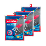Paquete 3 Funda Descansa Plancha Metalizada Vileda