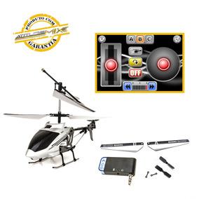 Helicóptero Prata 6 Metros De Alcance Iphone Ipad Ipod