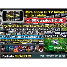 Tv Por Internet - 400 Canales + Pack Futbol + 1000 Películas