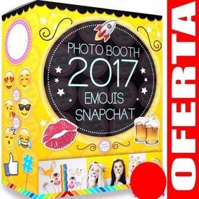 Kit Imprimible Photo Booth Prop Emojis Snapchat 2018 Unico3